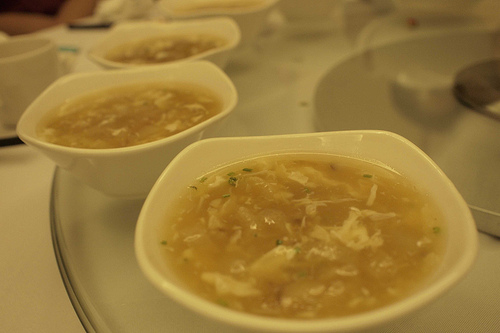 Fish noodle, or fish maw, soup. Photo by Denan Pan