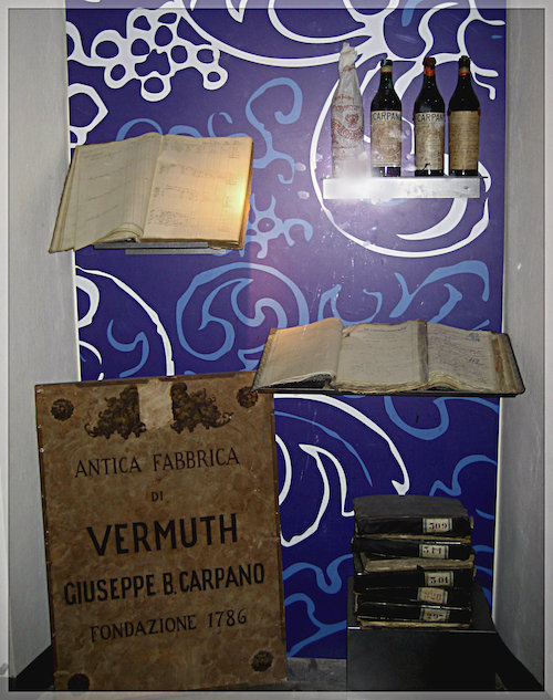 Vermouth display from the Turin Carpano museum