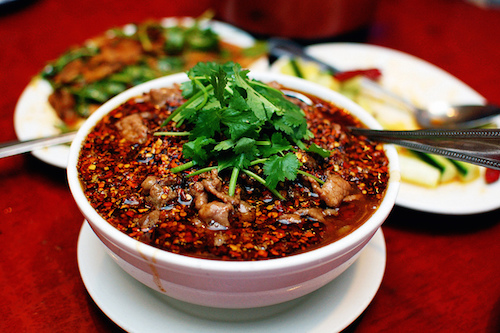 Water Boiled Beef at Szechwan Palace. Photo by Alexander Cowan.